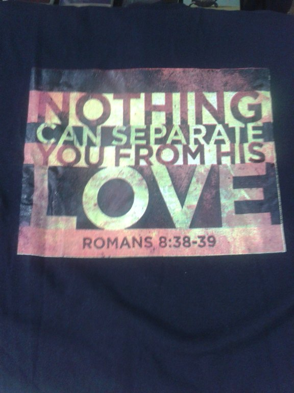 NOTHING CAN SEPARATE YOU FROM HIS LOVE TEE SHIRT