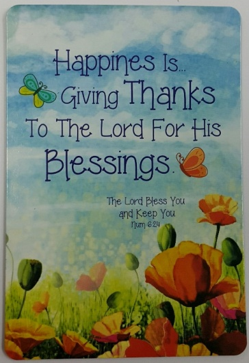 Happiness is giving Thanks