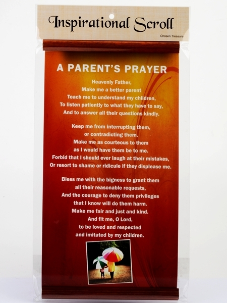 Inspirational Scroll - A Parent's Prayer