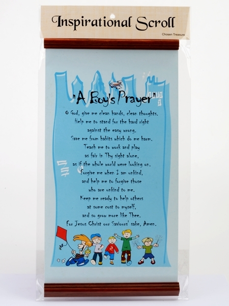 Inspirational Scroll - A Boy's Prayer