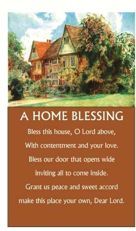 Inspirational Scroll - A Home Blessing