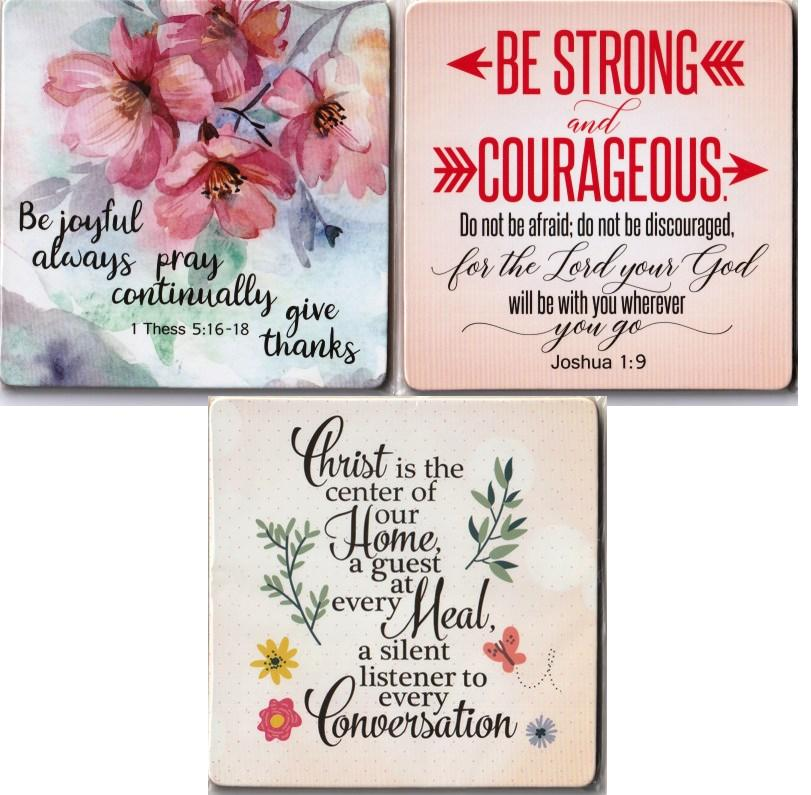 ENCOURAGE SERIES COASTER CHRIST IS THE HEAD SET OF 3