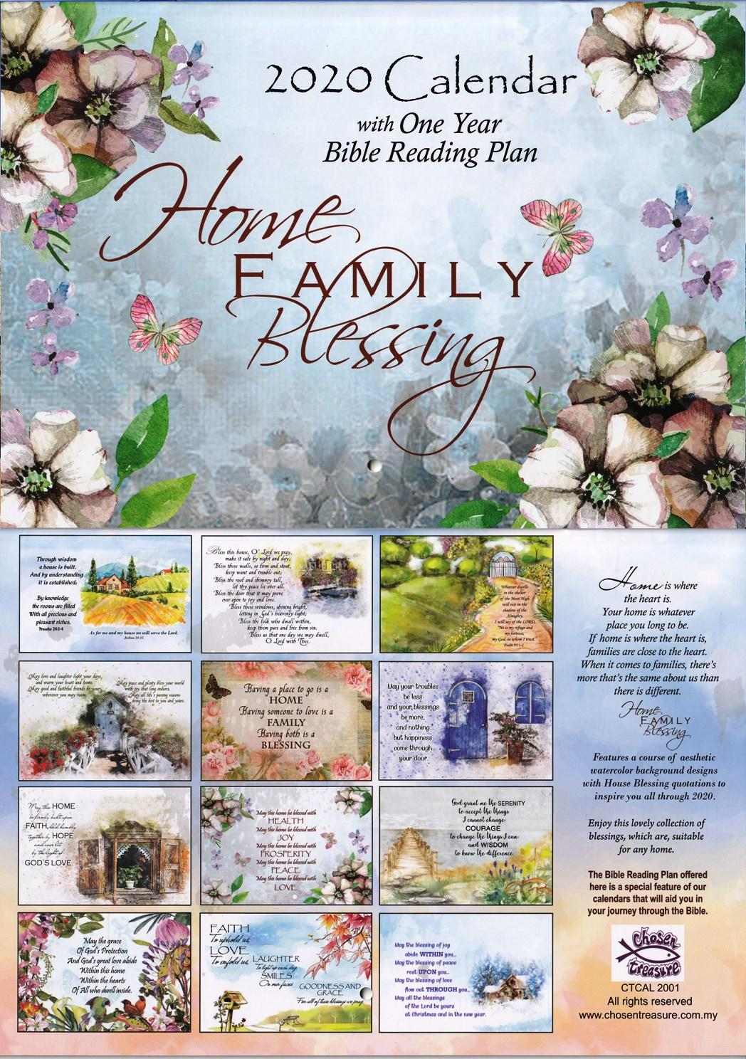 2020 HOME FAMILY BLESSING CALENDAR