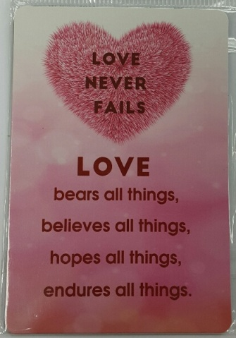 Love bears all things