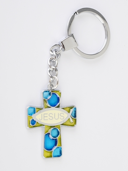 Stain Cross Keychains