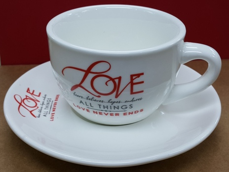 LOVE Cup with Saucer Set