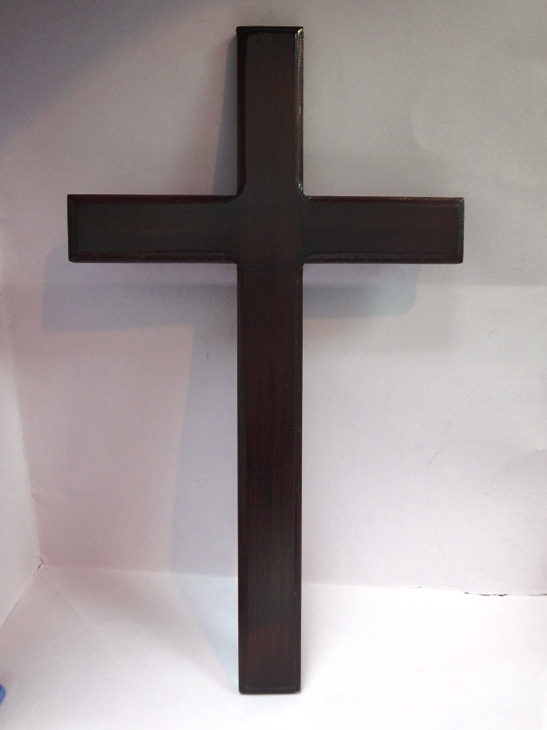LARGE FLAT WOODEN CROSS