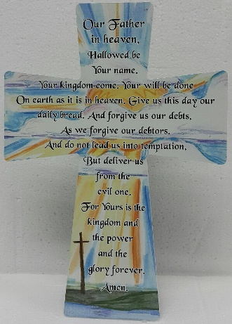 20 x 28 MDF Cross LORD PRAYER