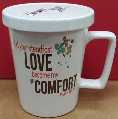 Ceramic mug with cover STEADFAST LOVE
