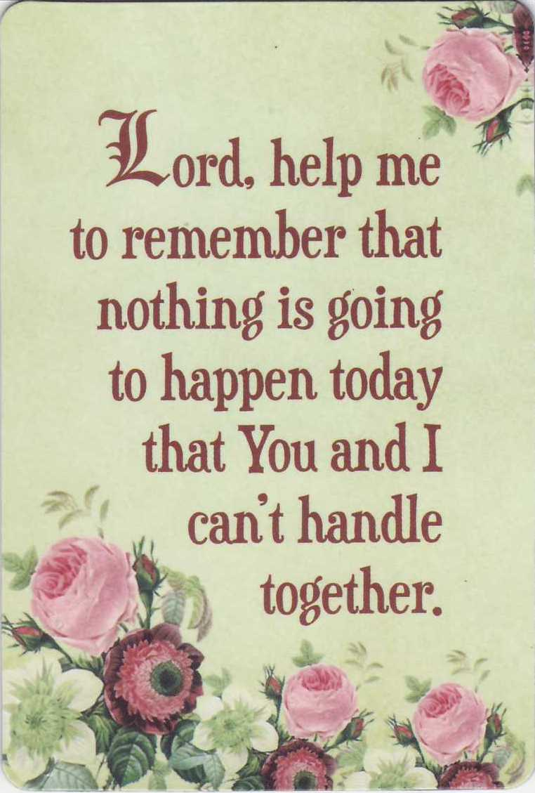Lord, Help me to remember