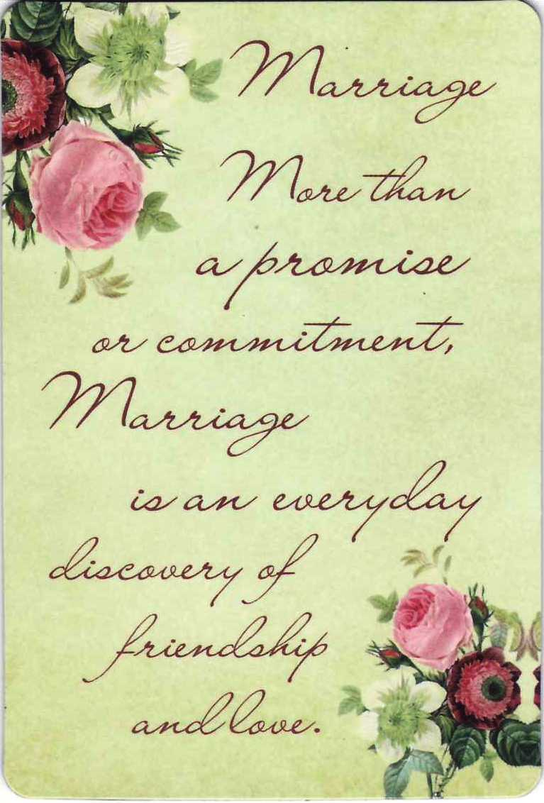 Marriage more than a promise