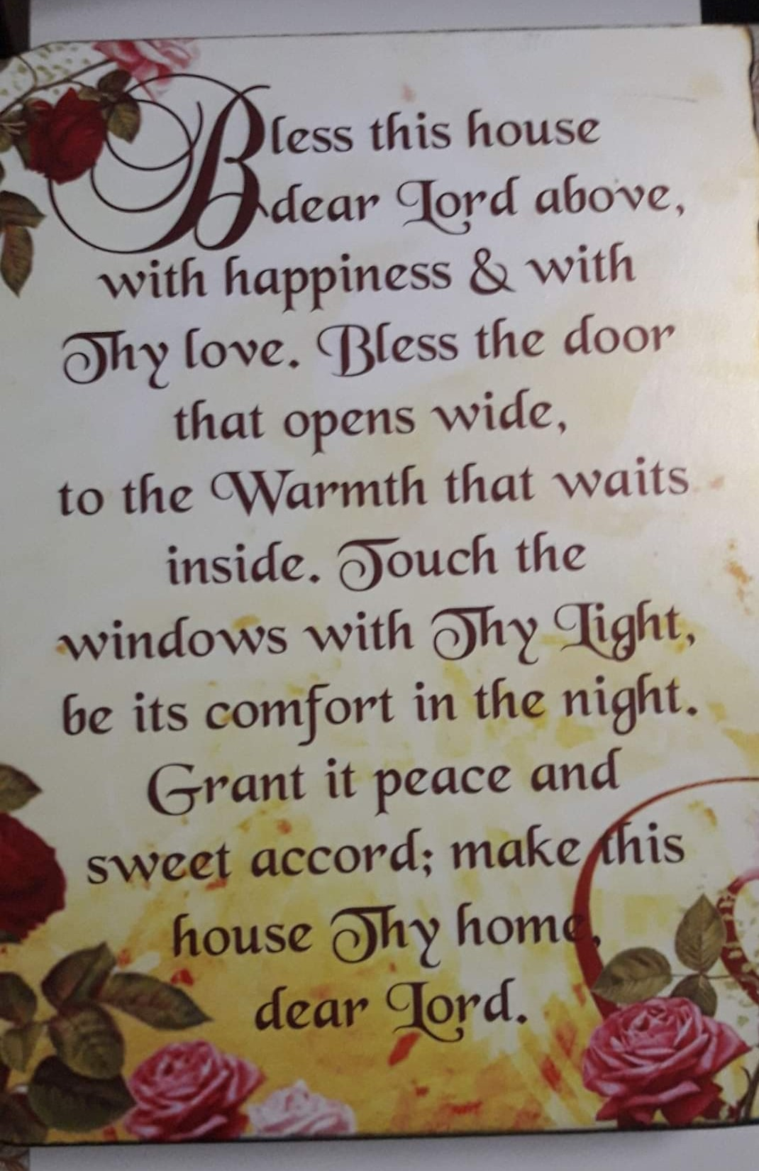 A3 Plaque BLESS THIS HOUSE 2