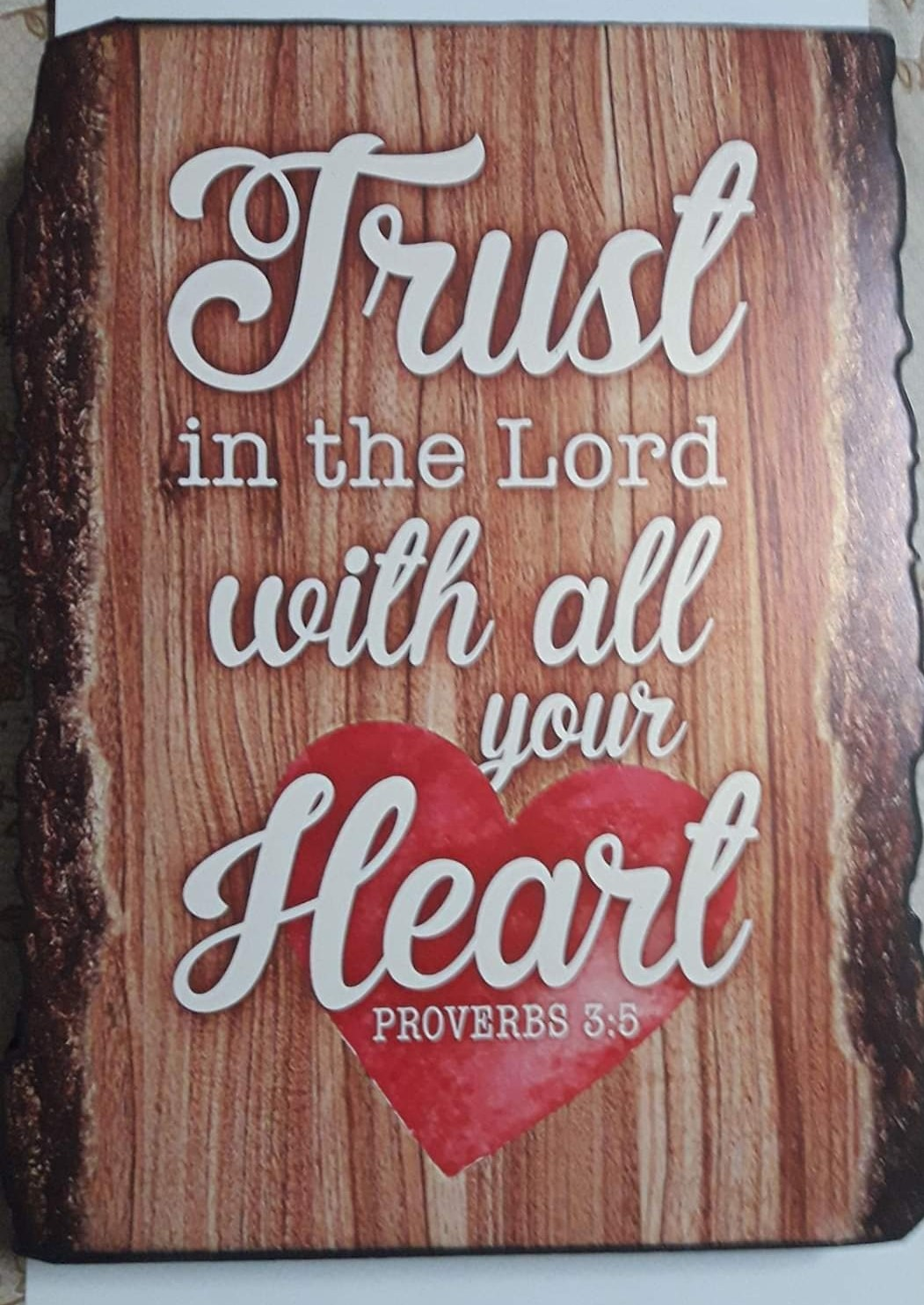A3 Plaque TRUST IN THE LORD