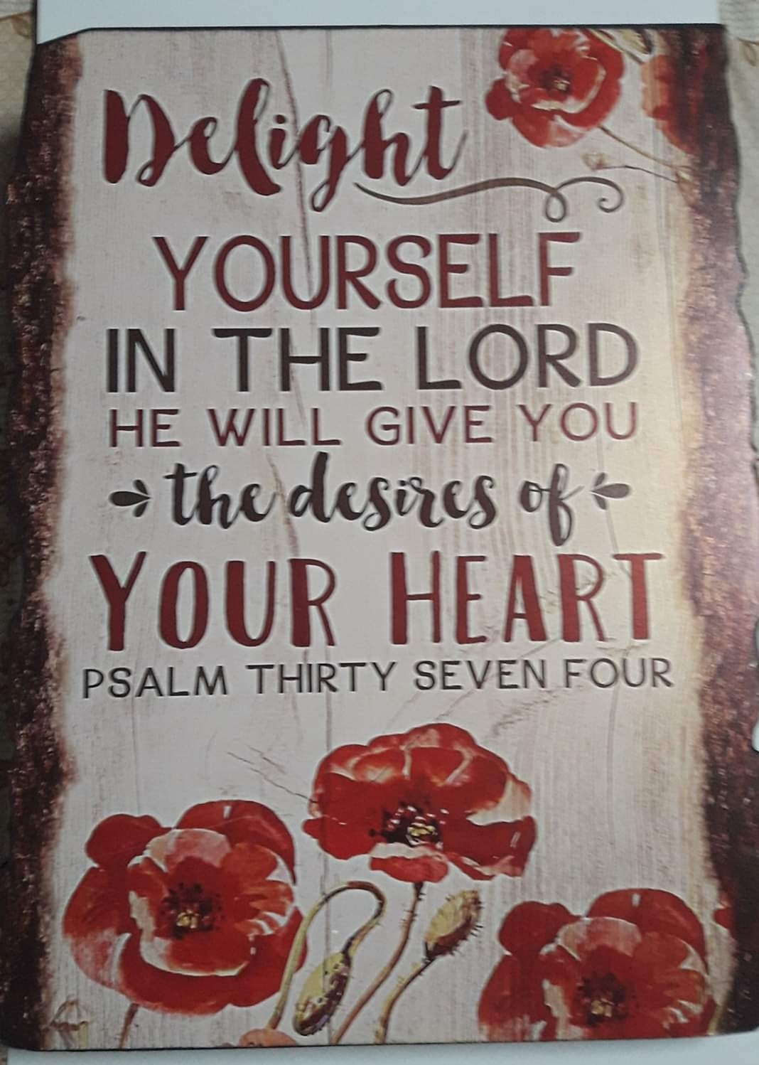 A3 Plaque DELIGHT YOURSELF IN THE LORD