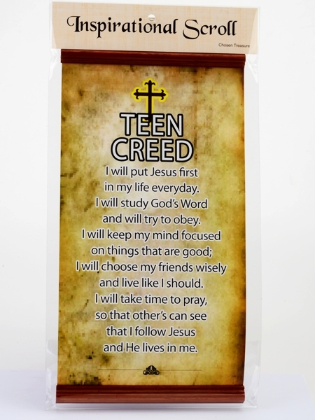 Inspirational Scroll - Teen Creed