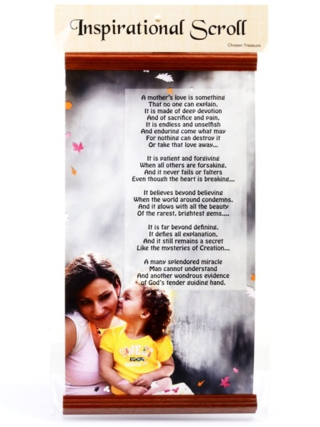 Inspirational Scroll - A Mother's Love