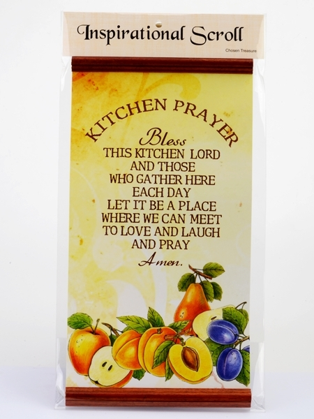 Inspirational Scroll - Kitchen Prayer