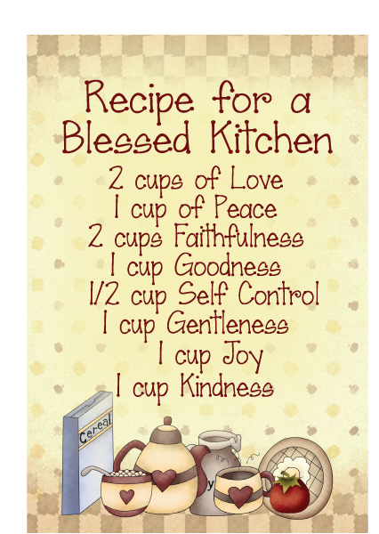 Recipe for a blessed kitchen